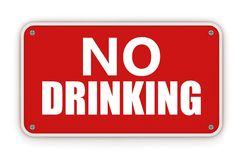 dricka inget tecken Royaltyfria Bilder