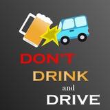 Dricka inte, och att köra ta taxien Royaltyfri Bild