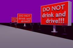 Dricka INTE och kör! stock illustrationer