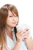 Dricka kaffe fotografering för bildbyråer