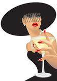 dricka kvinna royaltyfri illustrationer