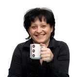 dricka kvinna för kaffe arkivbilder