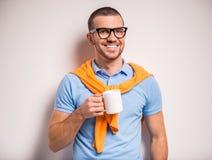 dricka man för kaffe arkivbilder