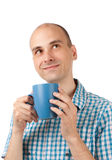 dricka manbarn för kaffe Royaltyfri Fotografi