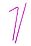 dricka rosa sugrör Fotografering för Bildbyråer