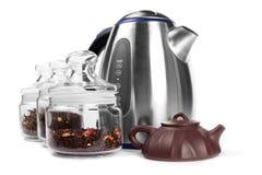 dricka set tea Fotografering för Bildbyråer