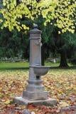 Dricka springbrunn i parken Royaltyfri Bild