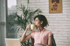 dricka tea Royaltyfria Bilder