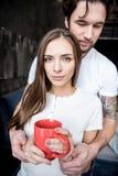 Dricka Tea för par Royaltyfria Bilder