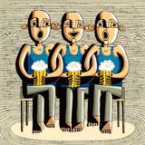 dricka vänner för öl vektor illustrationer