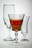 dricker exponeringsglas Arkivfoto