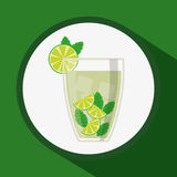 Dricker exponeringsglasbegreppsdesign Arkivfoto
