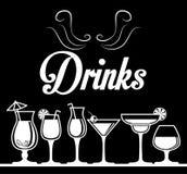 Dricker exponeringsglasbegreppsdesign Royaltyfria Foton