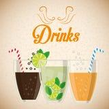 Dricker exponeringsglasbegreppsdesign Arkivbilder