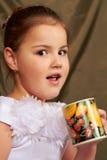dricker flickan Royaltyfri Fotografi