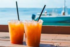 dricker frukt- Royaltyfria Foton