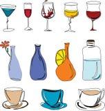 dricker illustrationen Royaltyfria Bilder