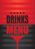 Dricker menybakgrund Royaltyfri Fotografi