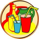 dricker pictogramen Royaltyfri Fotografi
