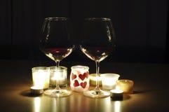 dricker romantiker Royaltyfri Foto