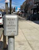 Dricksvattenprovtagningstation brooklyn New York arkivbilder