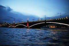 Dridgen över floden Royaltyfria Bilder