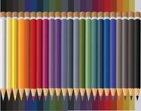 Drieëntwintig colorfullpotloden voor jonge geitjes royalty-vrije illustratie