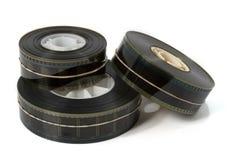 Drie Aanhangwagens 1 van de Film van de Film Stock Afbeelding