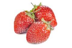 Drie aardbeien Royalty-vrije Stock Afbeelding
