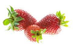 Drie Aardbeien stock fotografie
