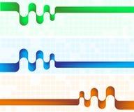 Drie abstracte kleurenbanners Stock Afbeeldingen