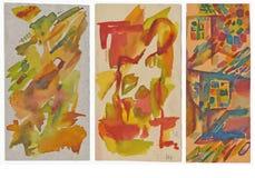Drie abstracties stock illustratie