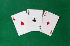Drie Ace achtergrond Royalty-vrije Stock Foto