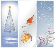 Drie Achtergronden of Banners van Kerstmis Zen Stock Afbeelding