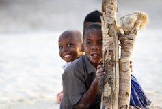 Drie Afrikaanse kinderen Royalty-vrije Stock Afbeelding