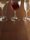 Drie Alcoholische Dranken Stock Foto's