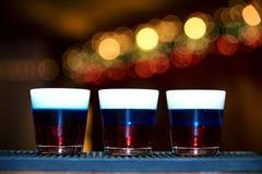 Drie alcoholische schoten stock fotografie