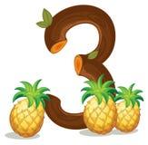 Drie ananassen Stock Afbeelding