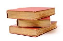 Drie antieke boeken stock afbeelding
