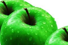 Drie appelen. Stock Foto's