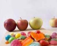 Drie appelen Royalty-vrije Stock Fotografie