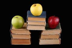 Drie appelen stock afbeeldingen