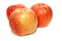 Drie appelen Stock Foto's