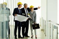Drie architecten royalty-vrije stock foto