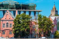 Drie architecturale stijlen Royalty-vrije Stock Foto's