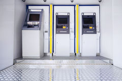 Drie ATM-machines Stock Afbeelding