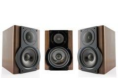 Drie audiosprekers Royalty-vrije Stock Afbeelding
