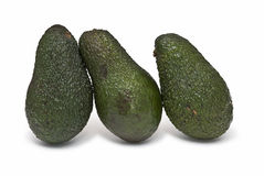 Drie avocado's. Royalty-vrije Stock Afbeeldingen