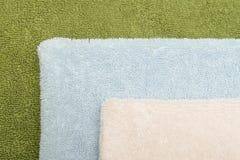 Drie badhanddoeken Stock Fotografie