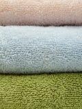 Drie badhanddoeken Stock Afbeelding